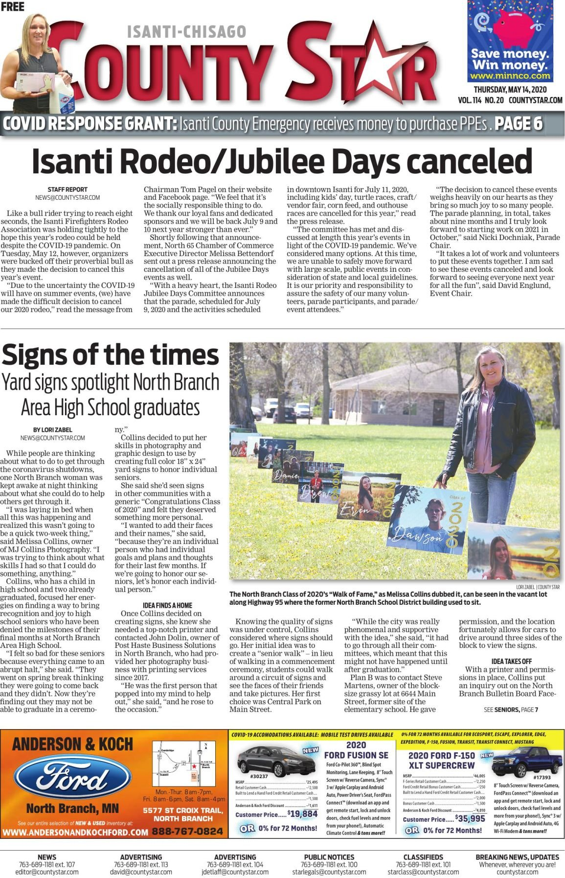 Isanti-Chisago County Star May 14, 2020 e-edition