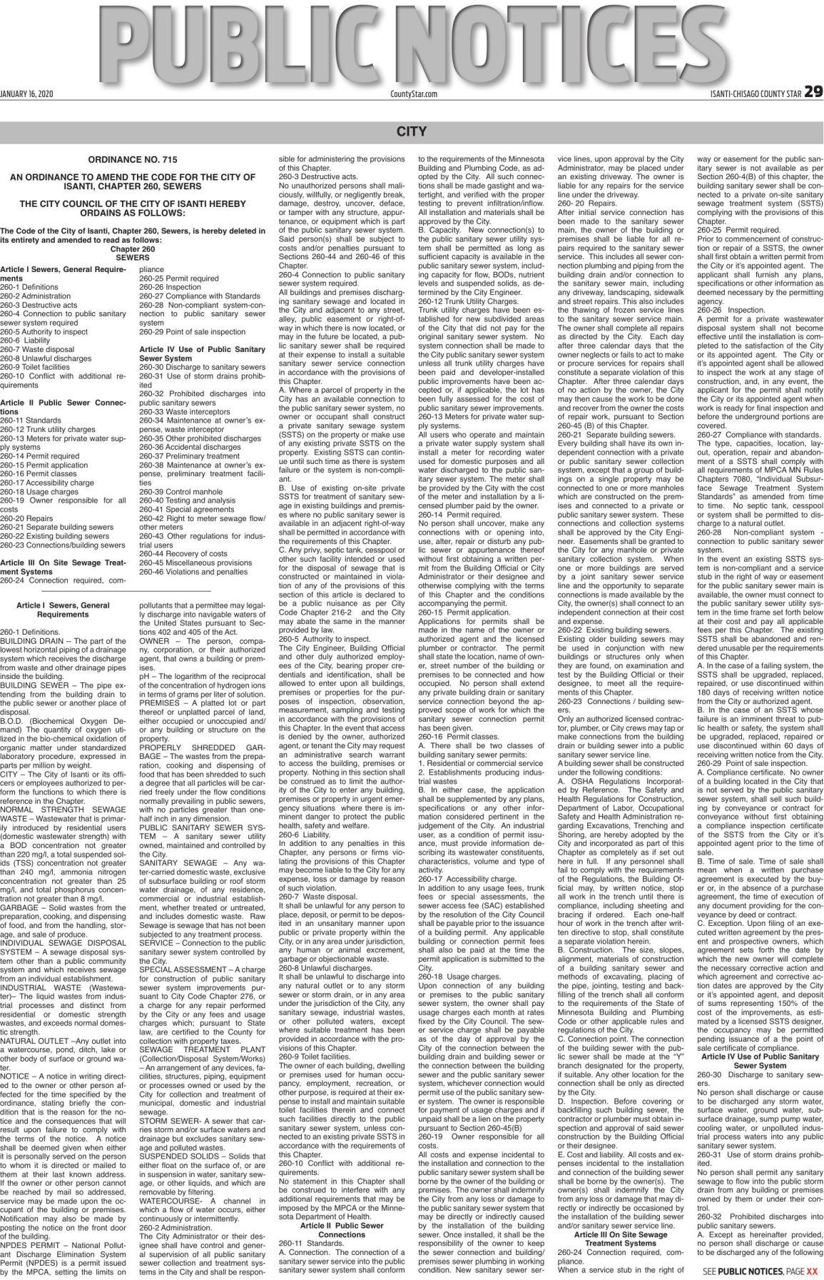 Public Notices - Jan. 16, 2020
