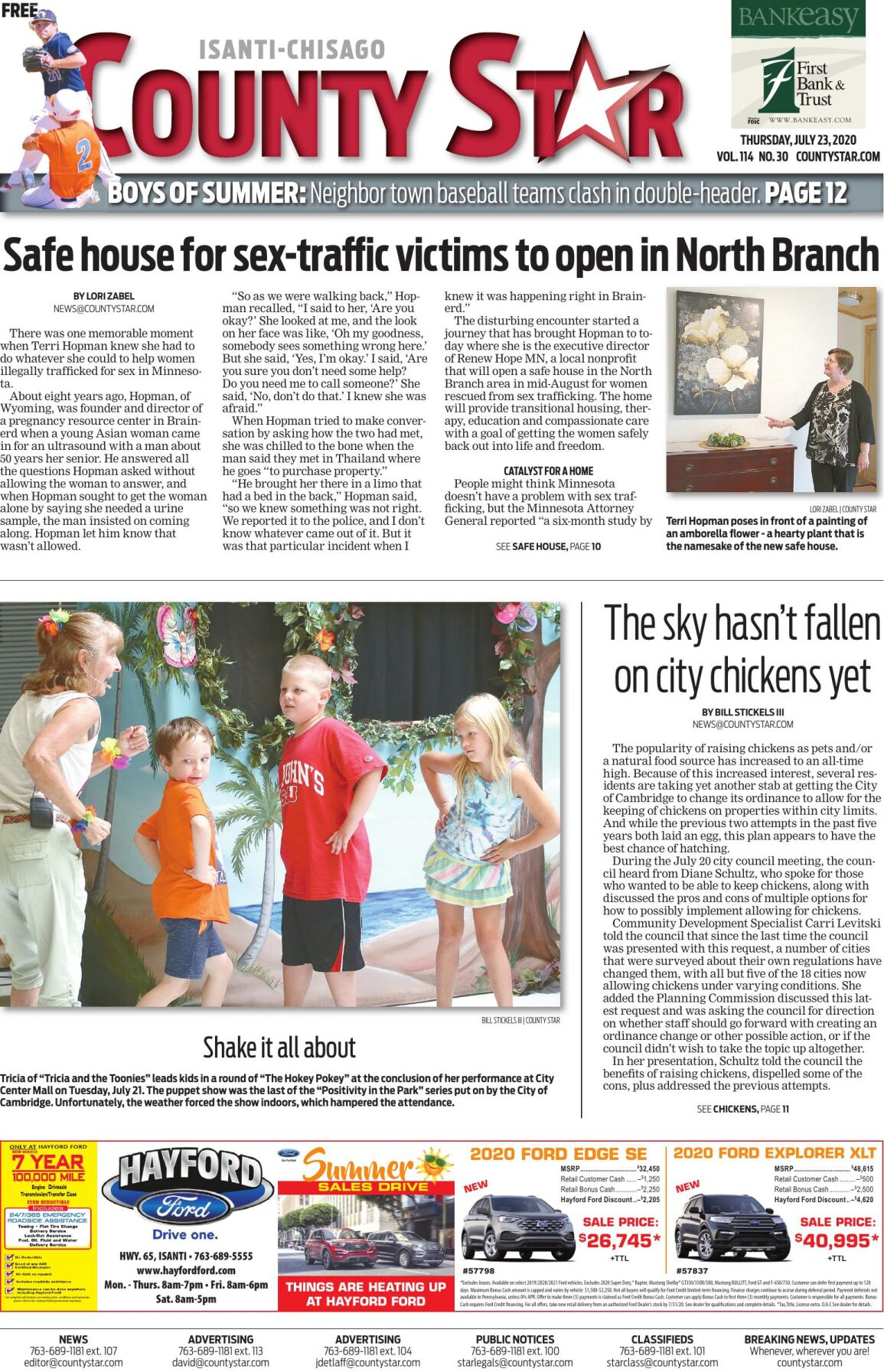Isanti-Chisago County Star July 23, 2020 e-edition