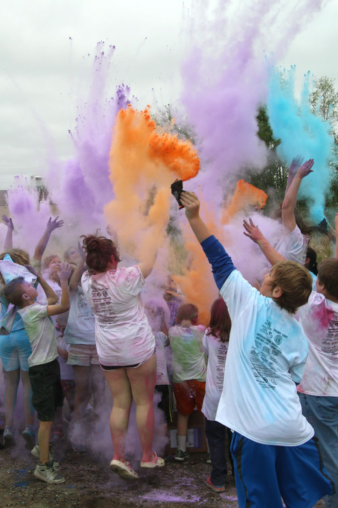 Gray skies filled with color during annual Braham 5K