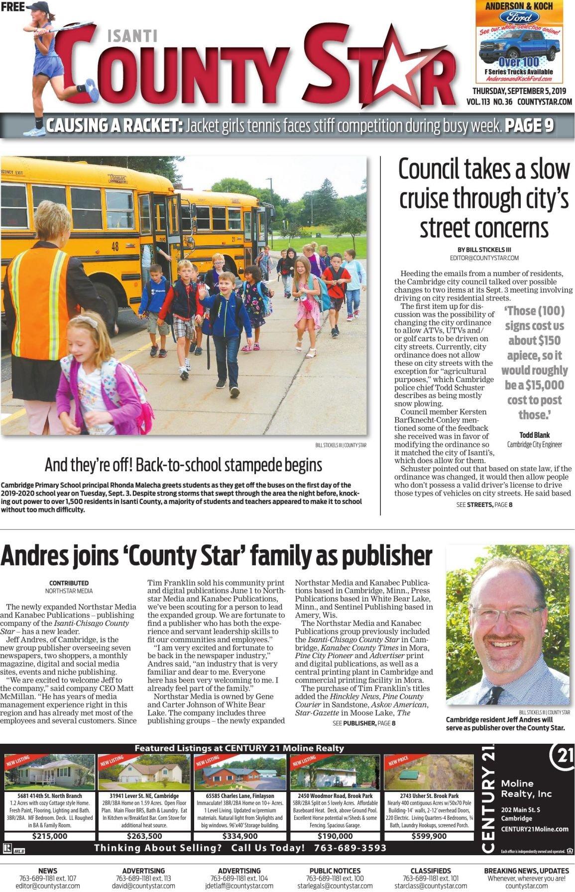 Isanti County Star e-edition September 5, 2019