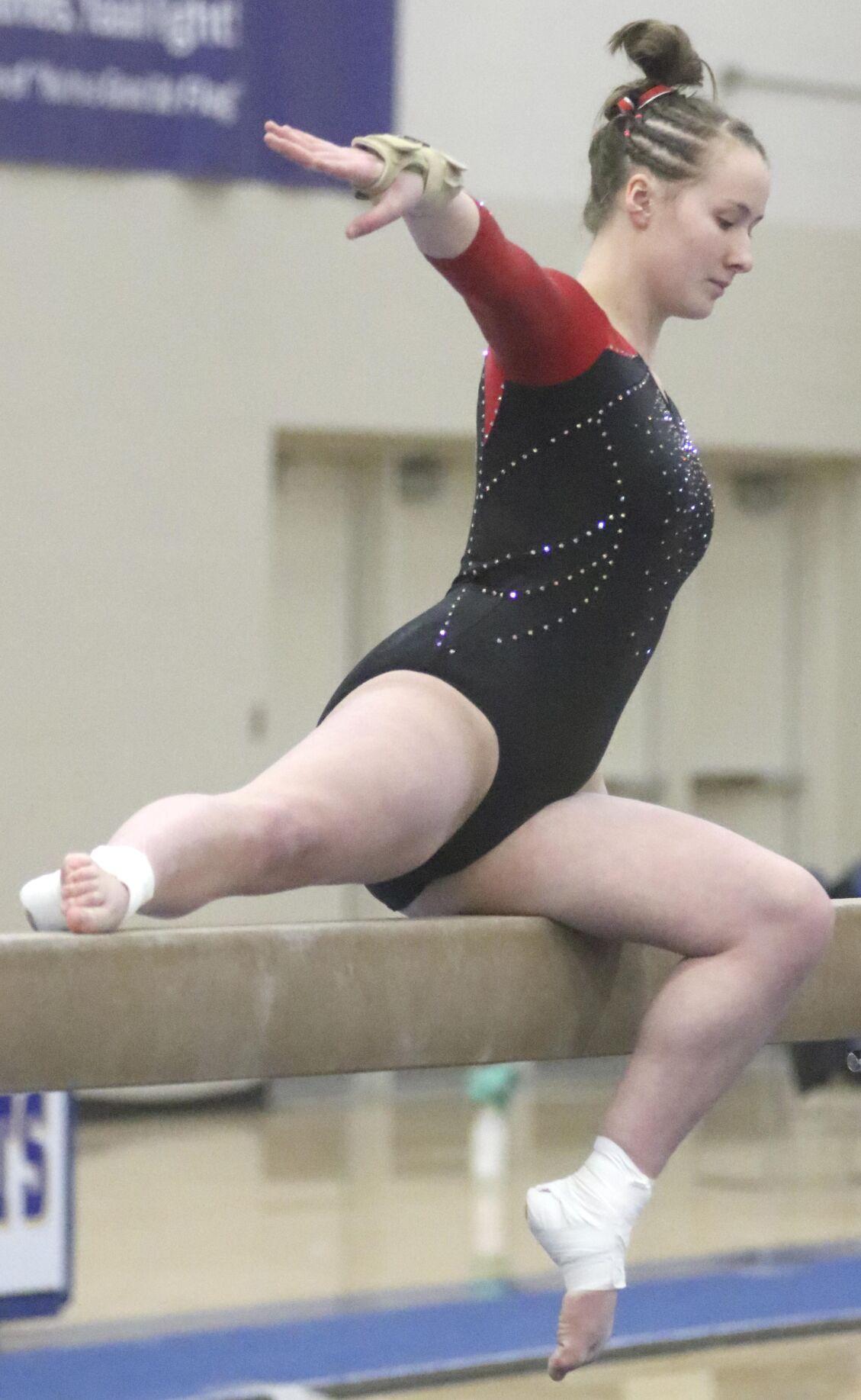 Jacket, Viking gymnasts place third at sections