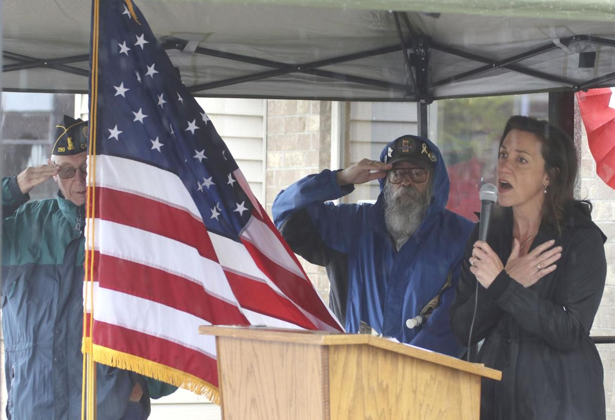 Steady rain leads to soggy Memorial Day ceremonies