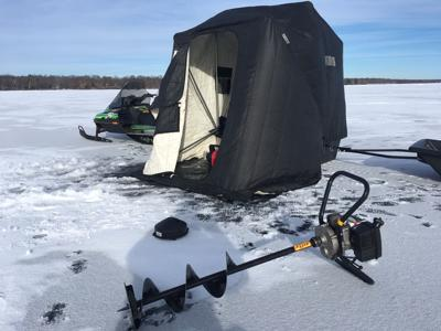 When ice fishing, find the spot on the spot