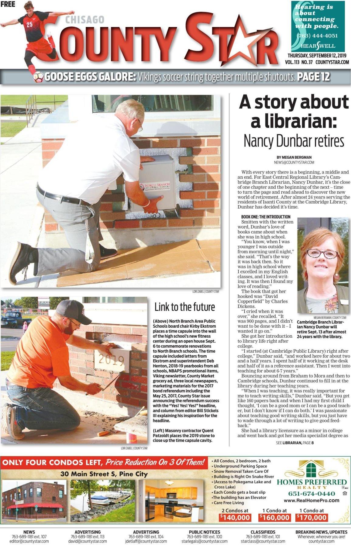 Chisago County Star e-edition September 12, 2019