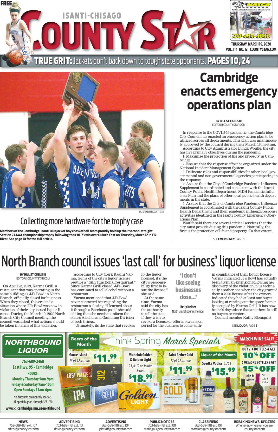 Isanti-Chisago County Star March 19, 2020 e-edition