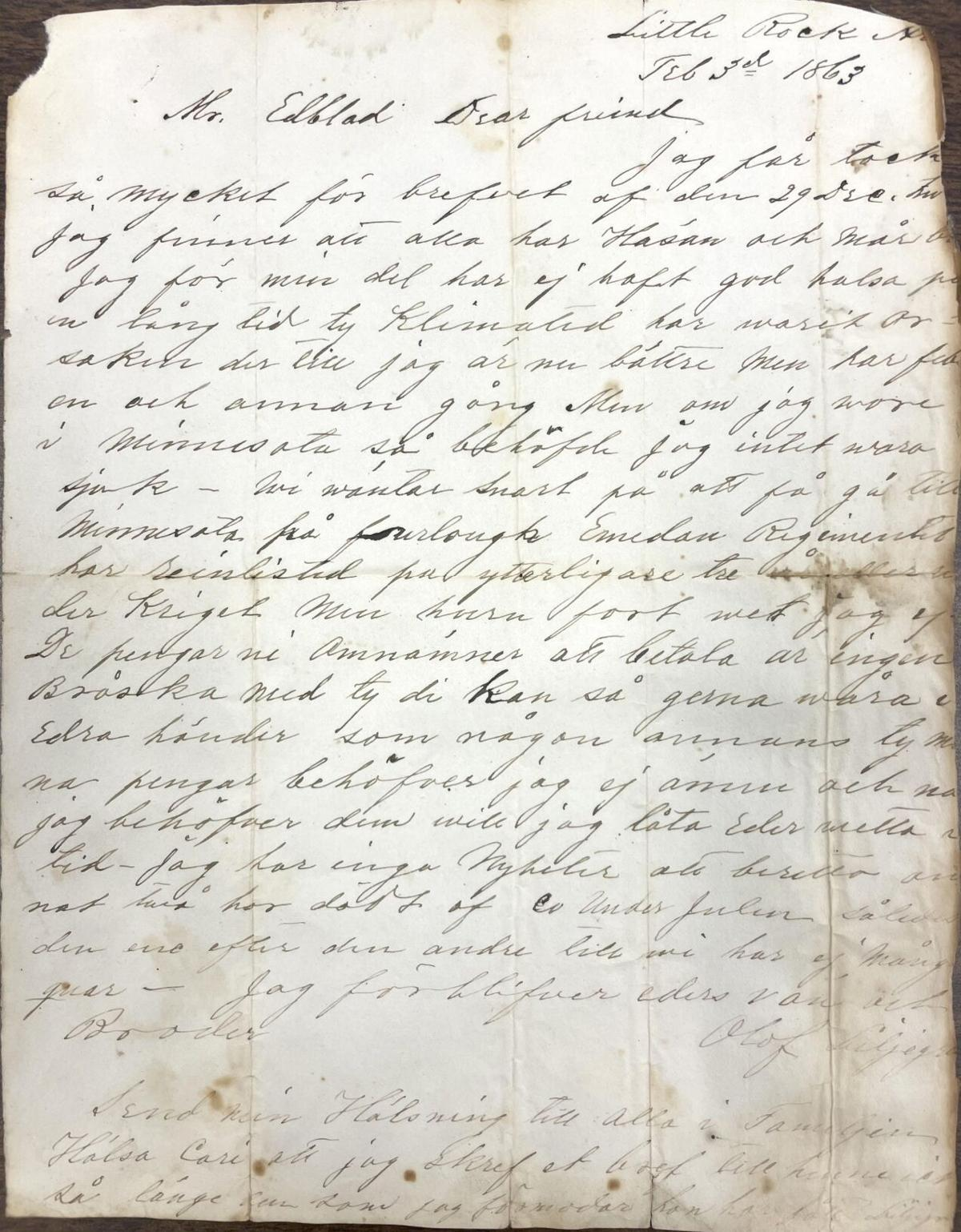 Repeating History: Letters from an area Civil War soldier