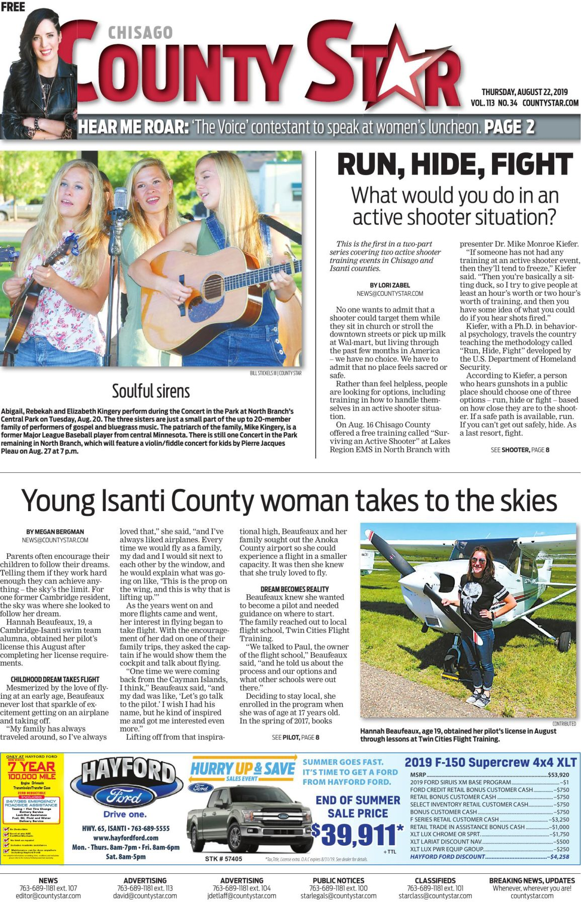 Chisago County Star e-edition August 22, 2019