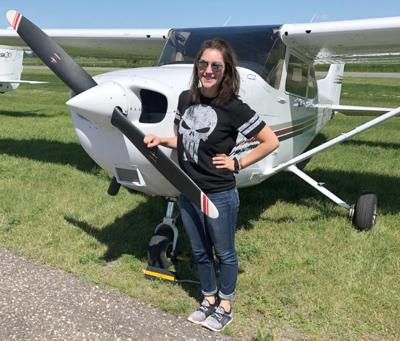 Young Isanti County woman takes to the skies