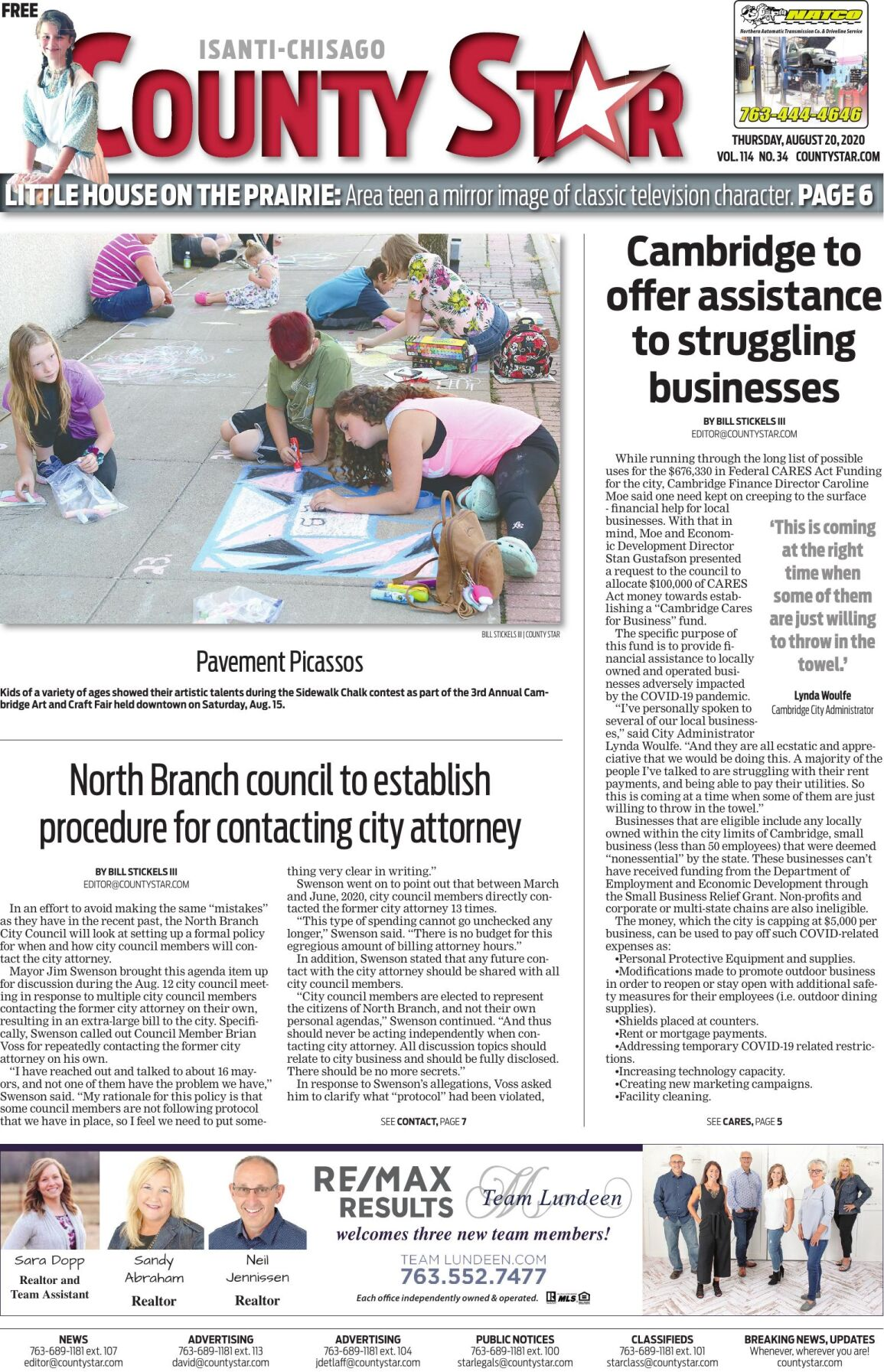 Isanti-Chisago County Star August 20, 2020 e-edition