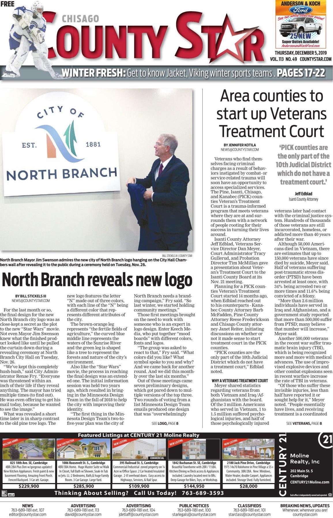 Chisago County Star December 5, 2019 e-edition