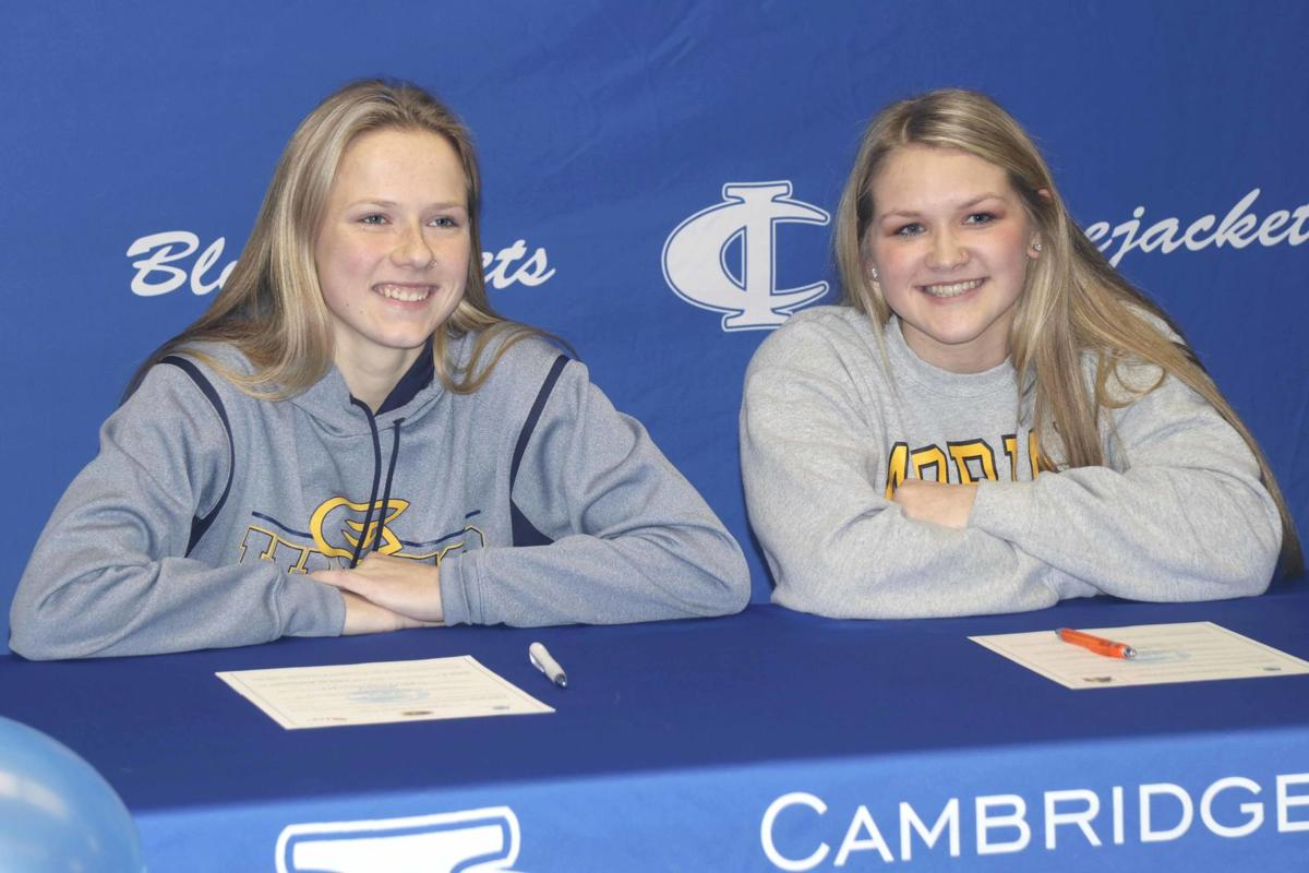 Jacket girls hockey seniors sign with colleges