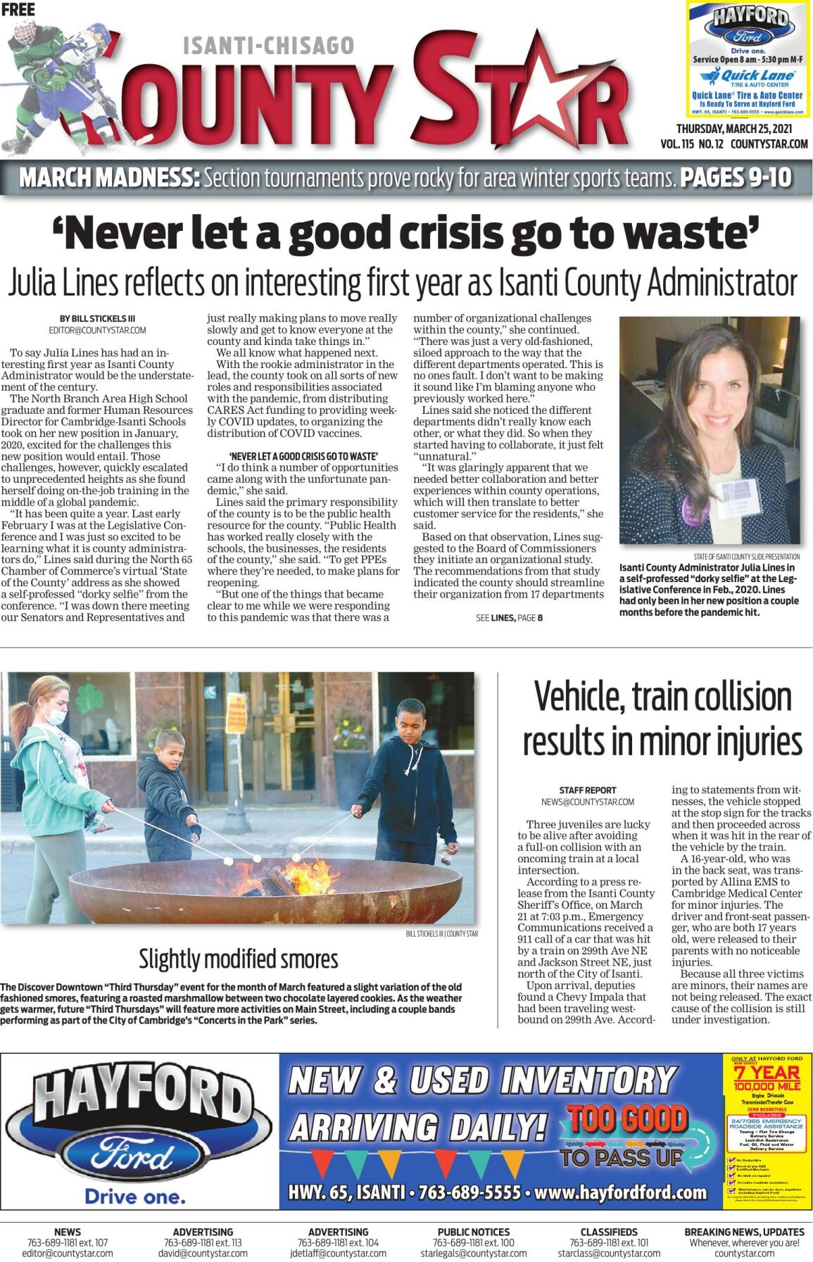 Isanti-Chisago County Star March 25, 2021 e-edition