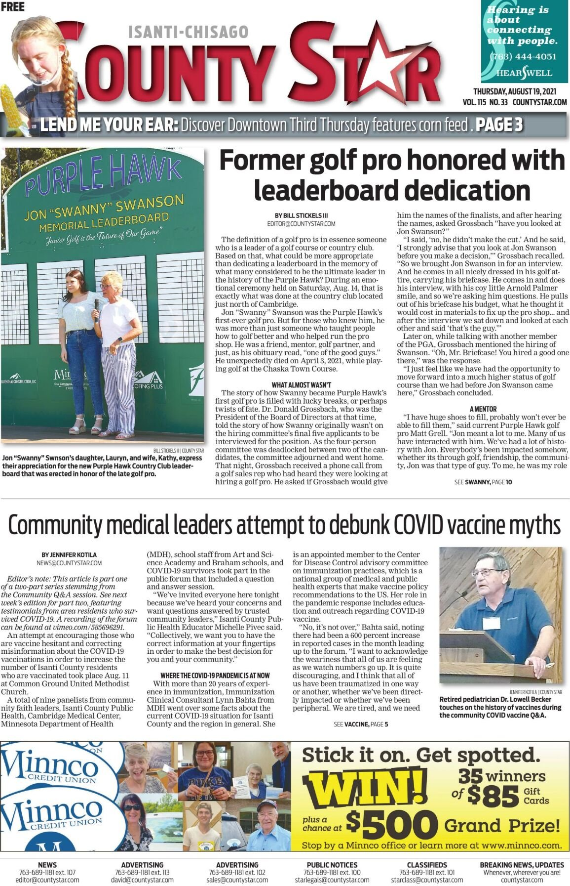 Isanti-Chisago County Star August 19, 2021 e-edition