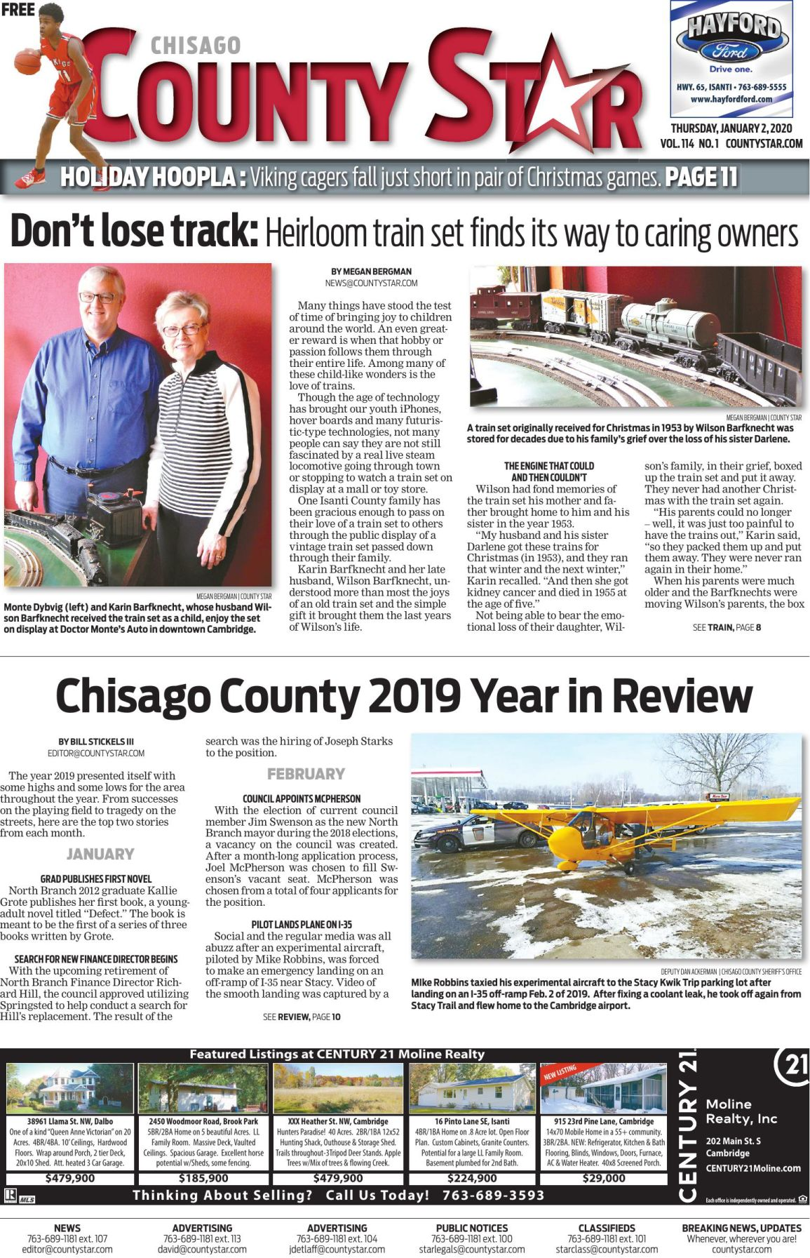Chisago County Star January 2, 2020 e-edition