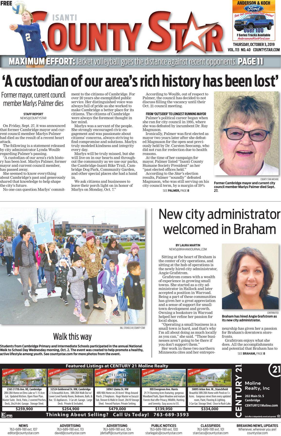 Isanti County Star October 3, 2019 e-edition