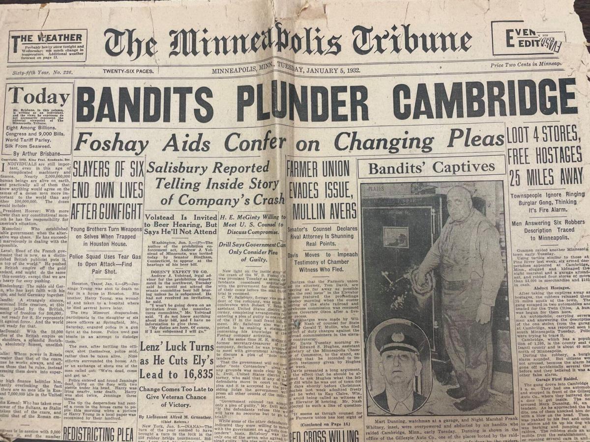 89 years ago, bandits plunder Cambridge