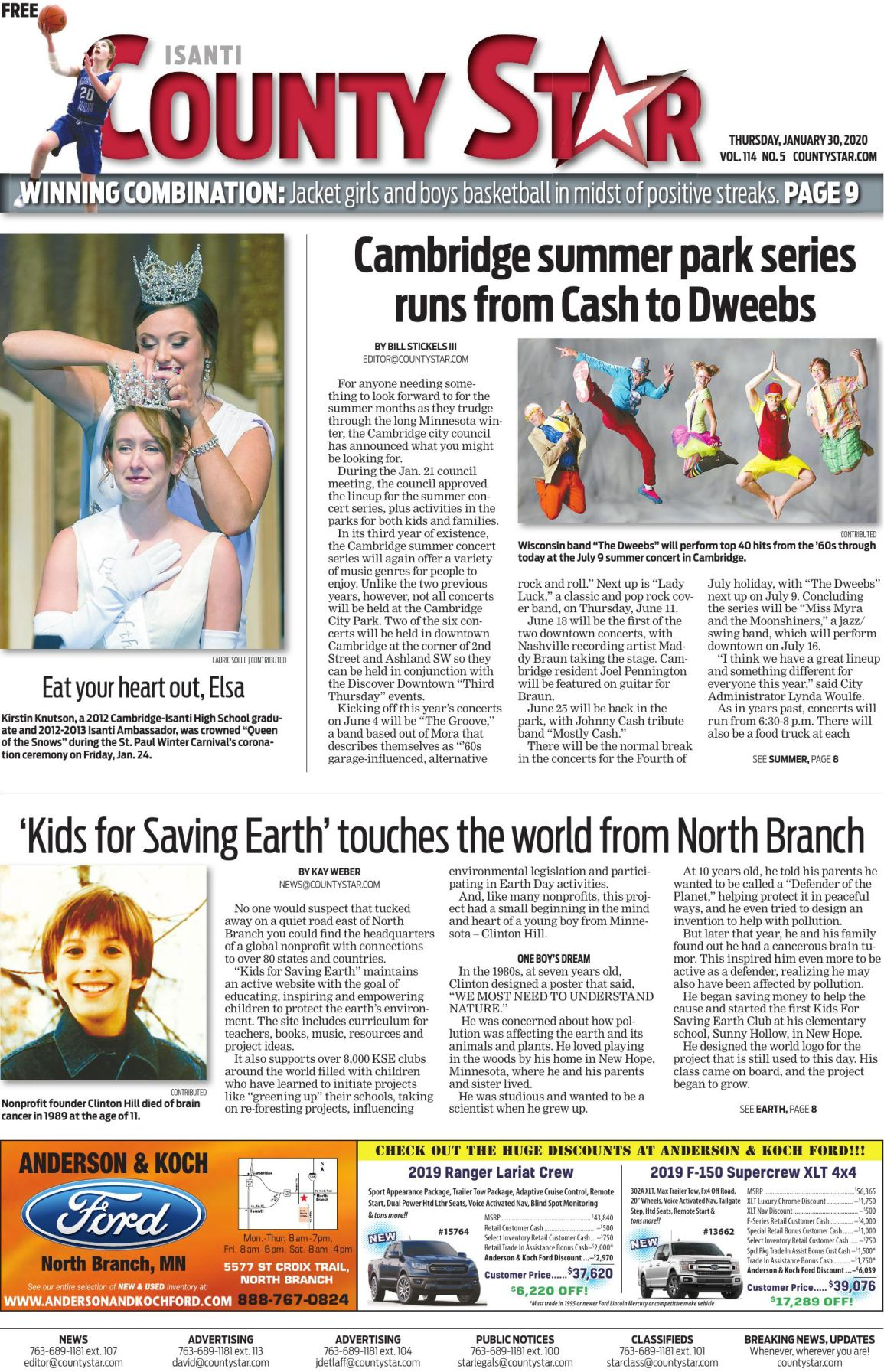 Isanti County Star January 30, 2020 e-edition