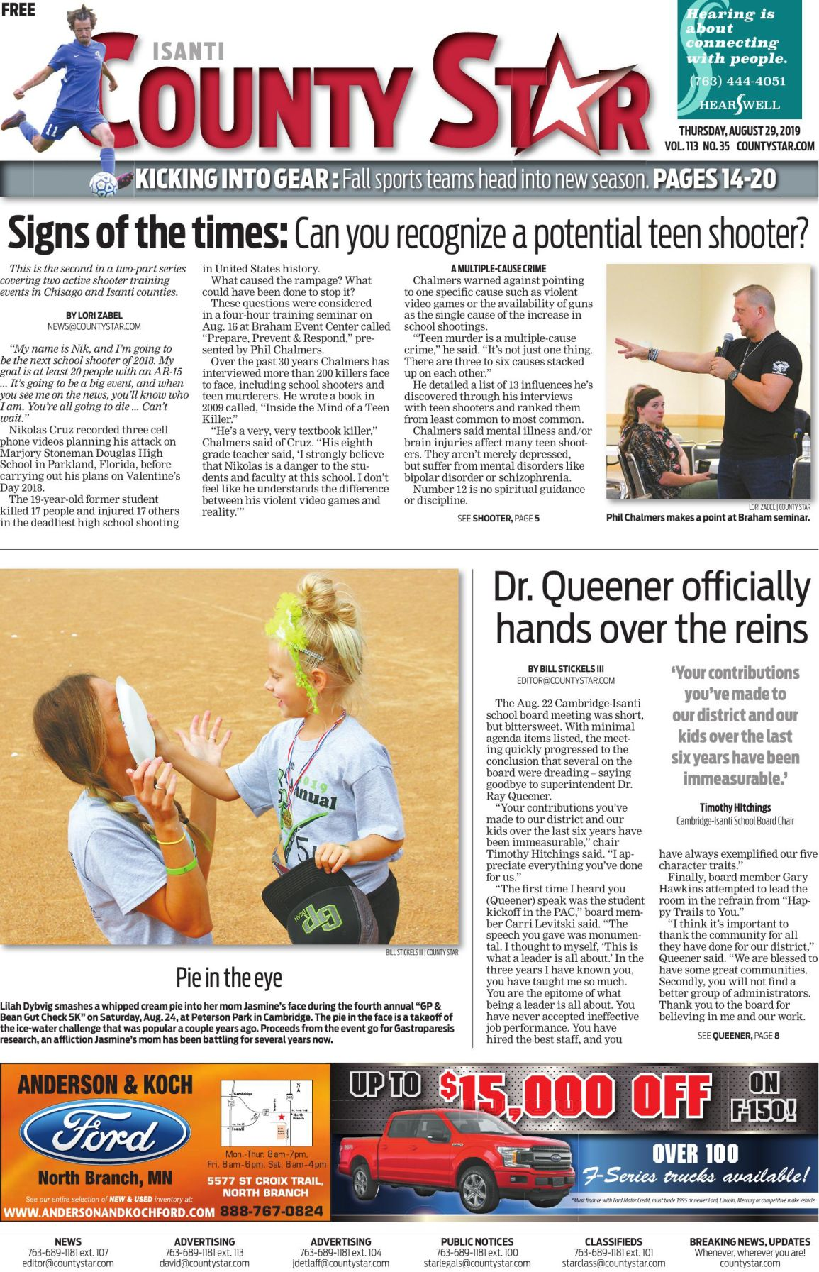 Isanti County Star August 29, 2019 e-edition