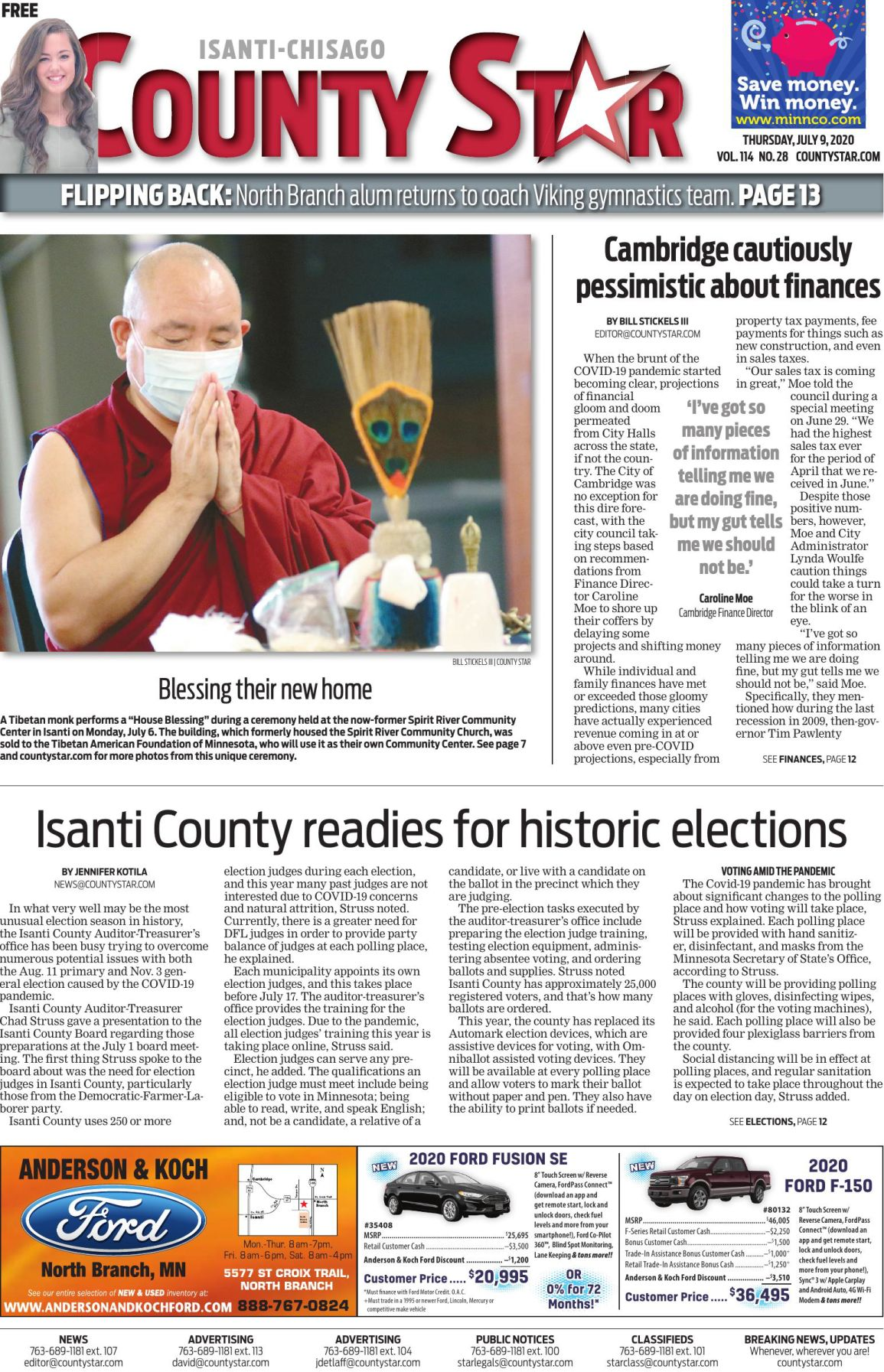 Isanti-Chisago County Star July 9, 2020 e-edition