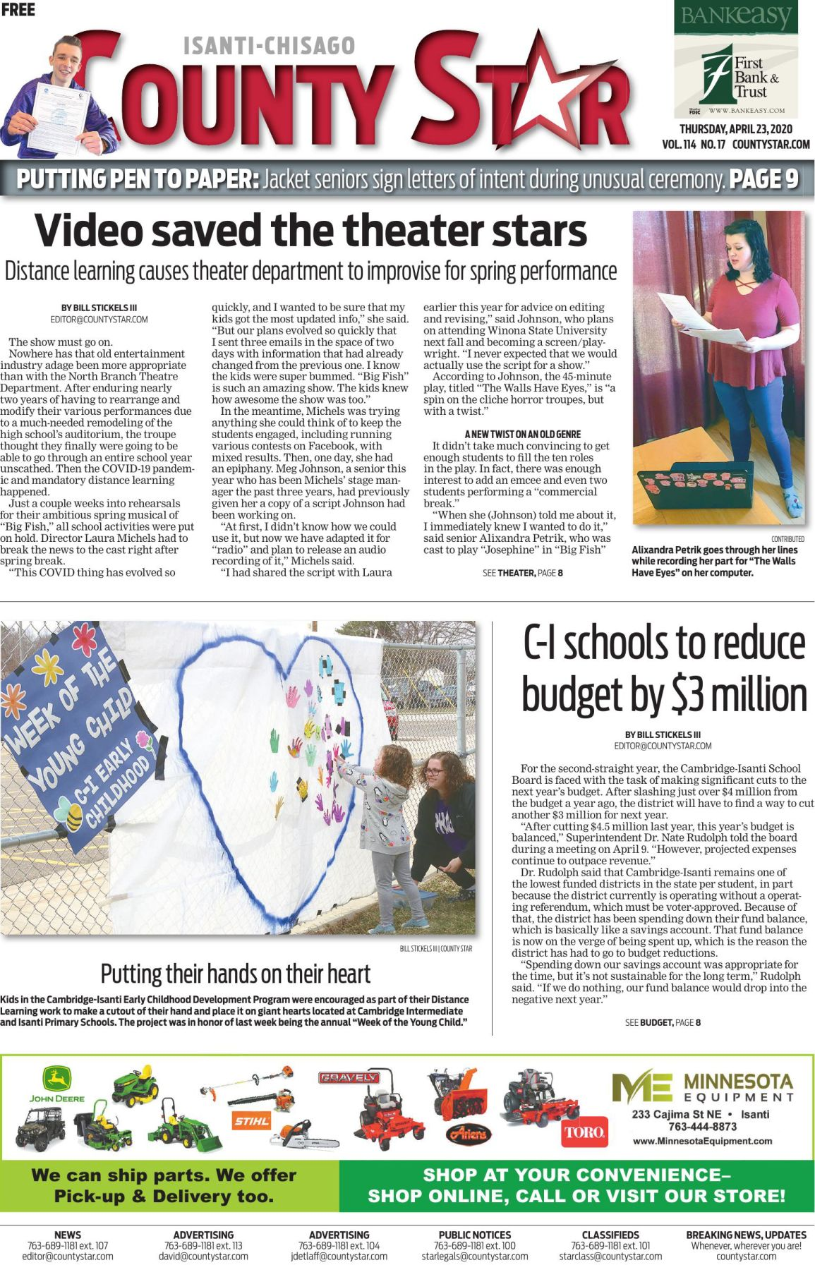 Isanti-Chisago County Star April 23, 2020 e-edition