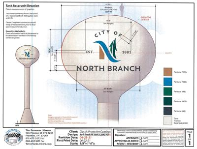 North Branch water tower receives face-lift