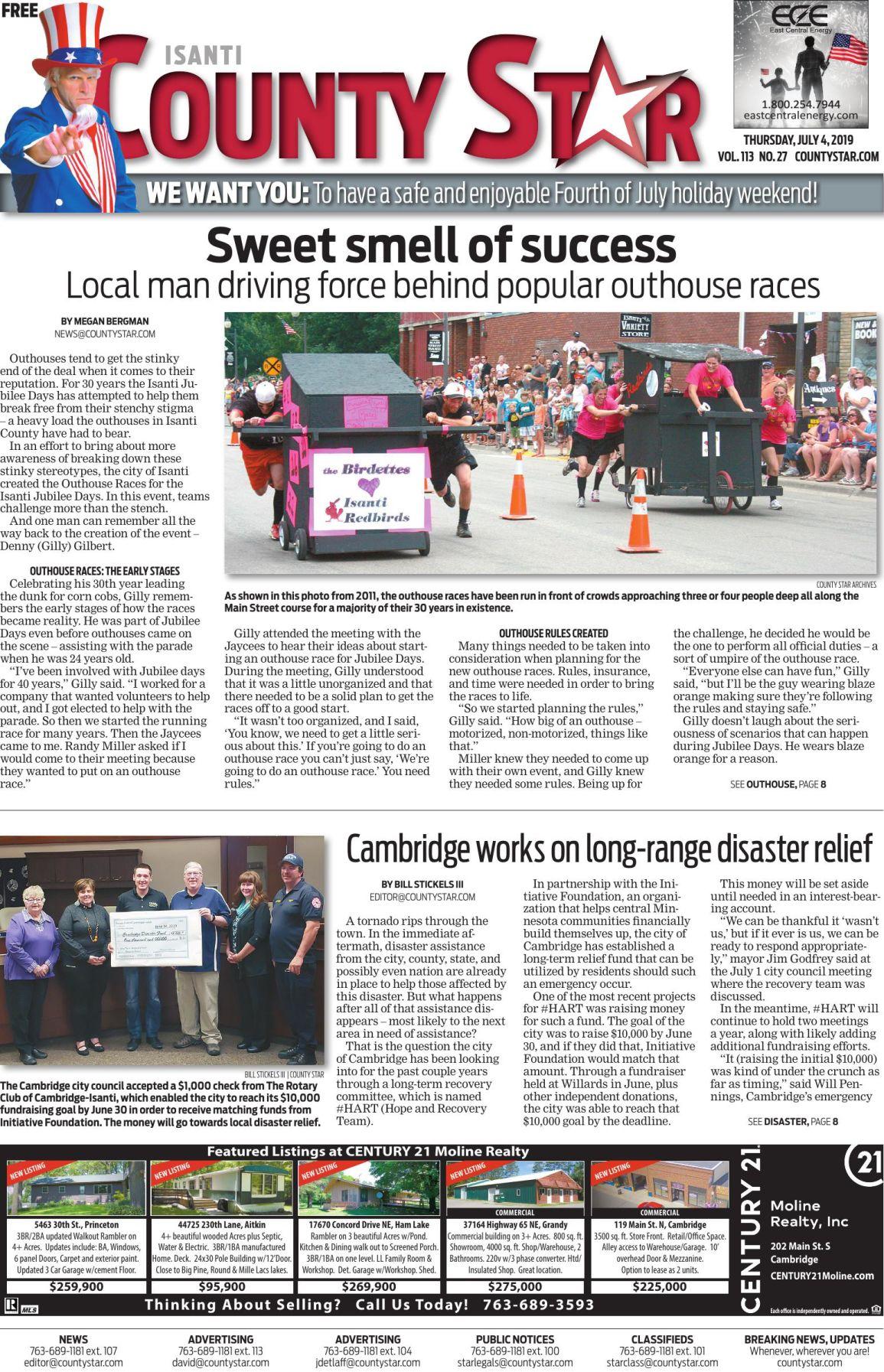 Isanti County Star e-edition July 4, 2019