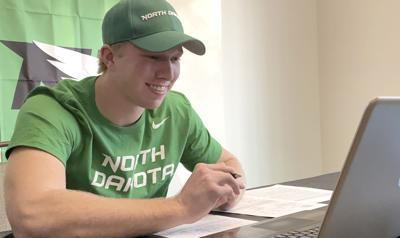 Ziebarth signs with University of North Dakota Fighting Hawks