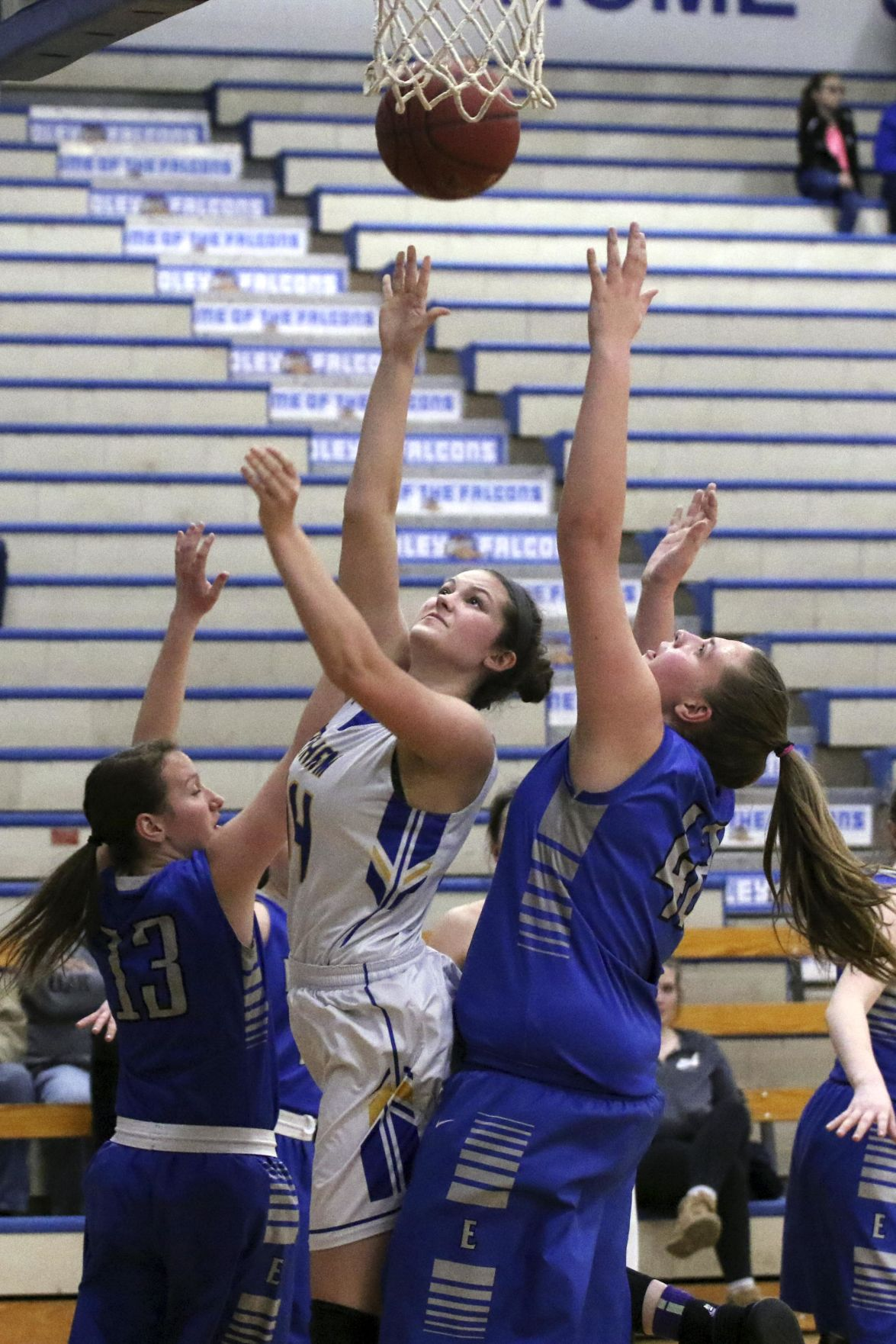 Bomber girls basketball one-and-one and done