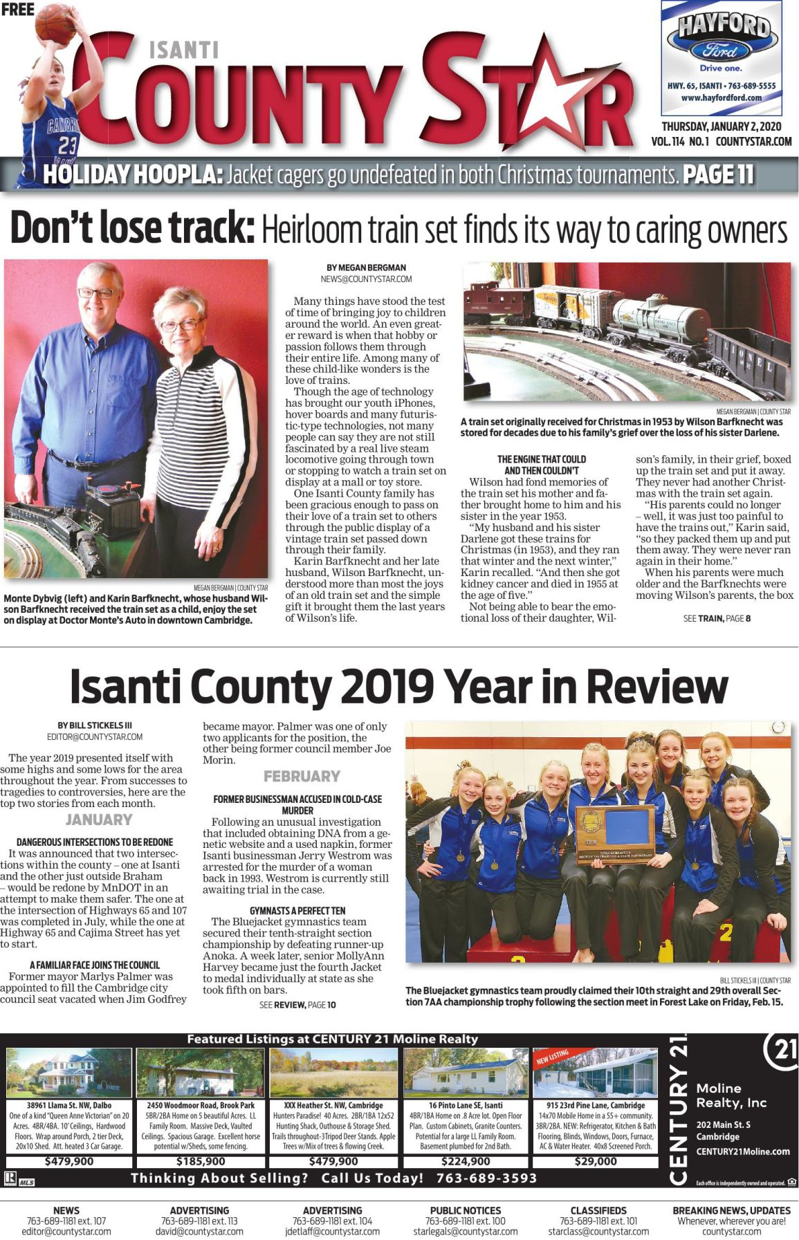 Isanti County Star January 2, 2020 e-edition