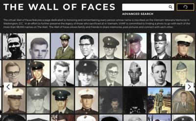 Vietnam Veteran Memorial needs 435 missing photos to finish wall
