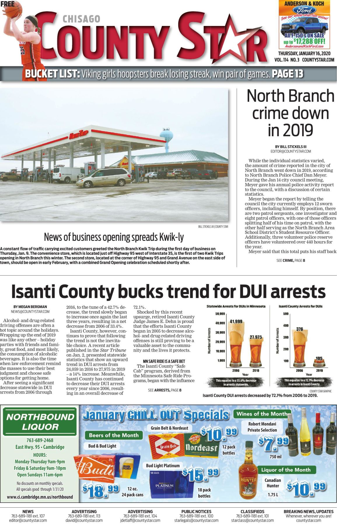 Chisago County Star January 16, 2020 e-edition