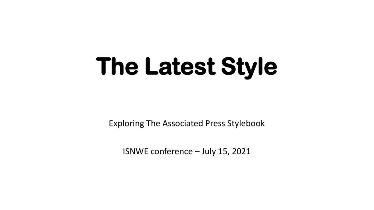 AP Stylebook Quiz Returns