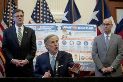 Texas governor says economy won't reopen all at once