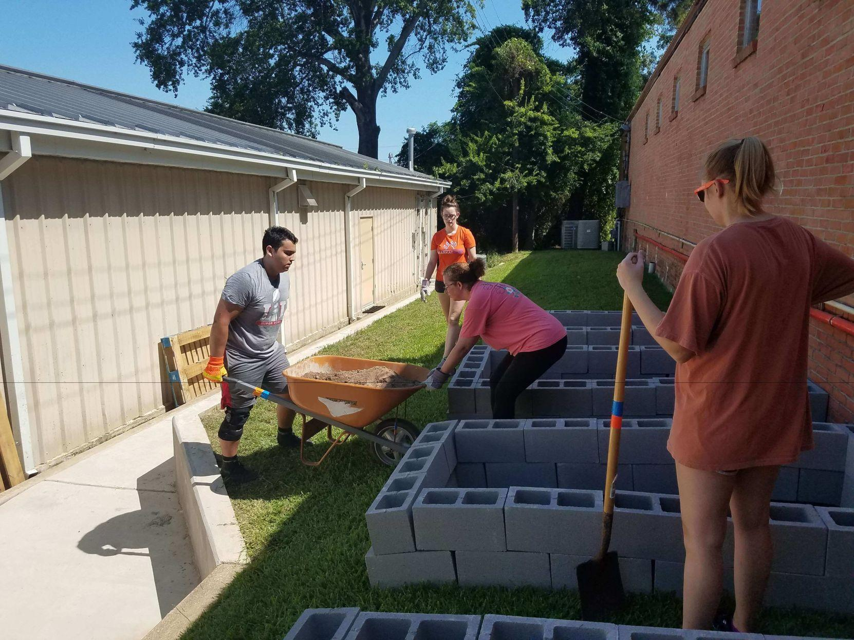SHSU Food Pantry and Wesley Foundation join efforts to build vegetable garden