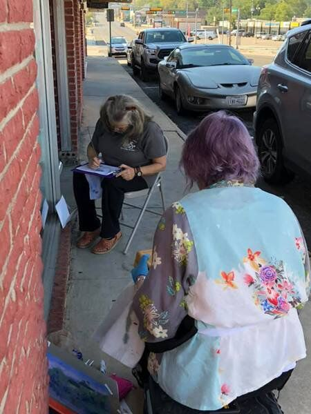 Local artists painting the town