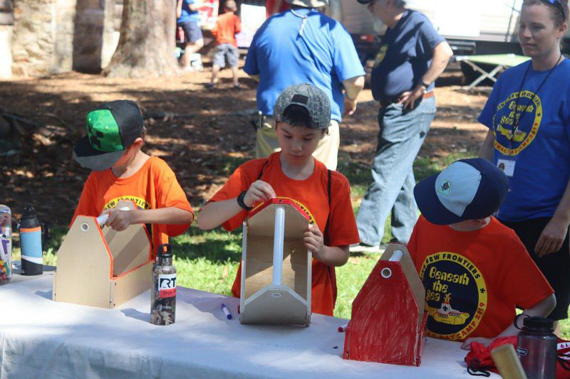 Scout day camp invades Josey Lodge