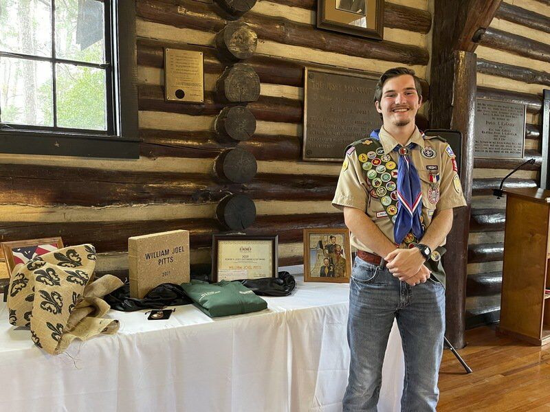 Troop 98 Eagle Scout named Outstanding Scout awardee