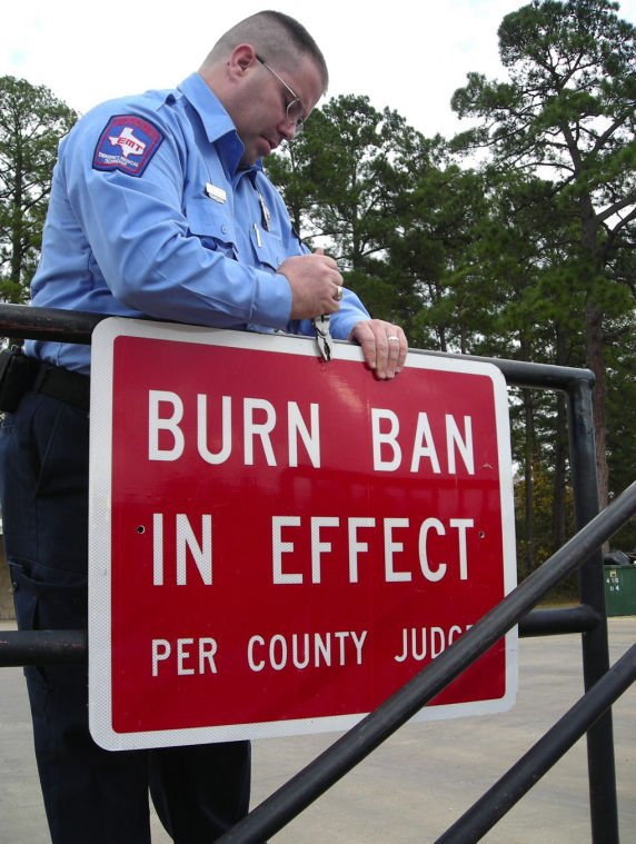 the 7th letter burn ban in effect due to hazardous conditions in county 28795