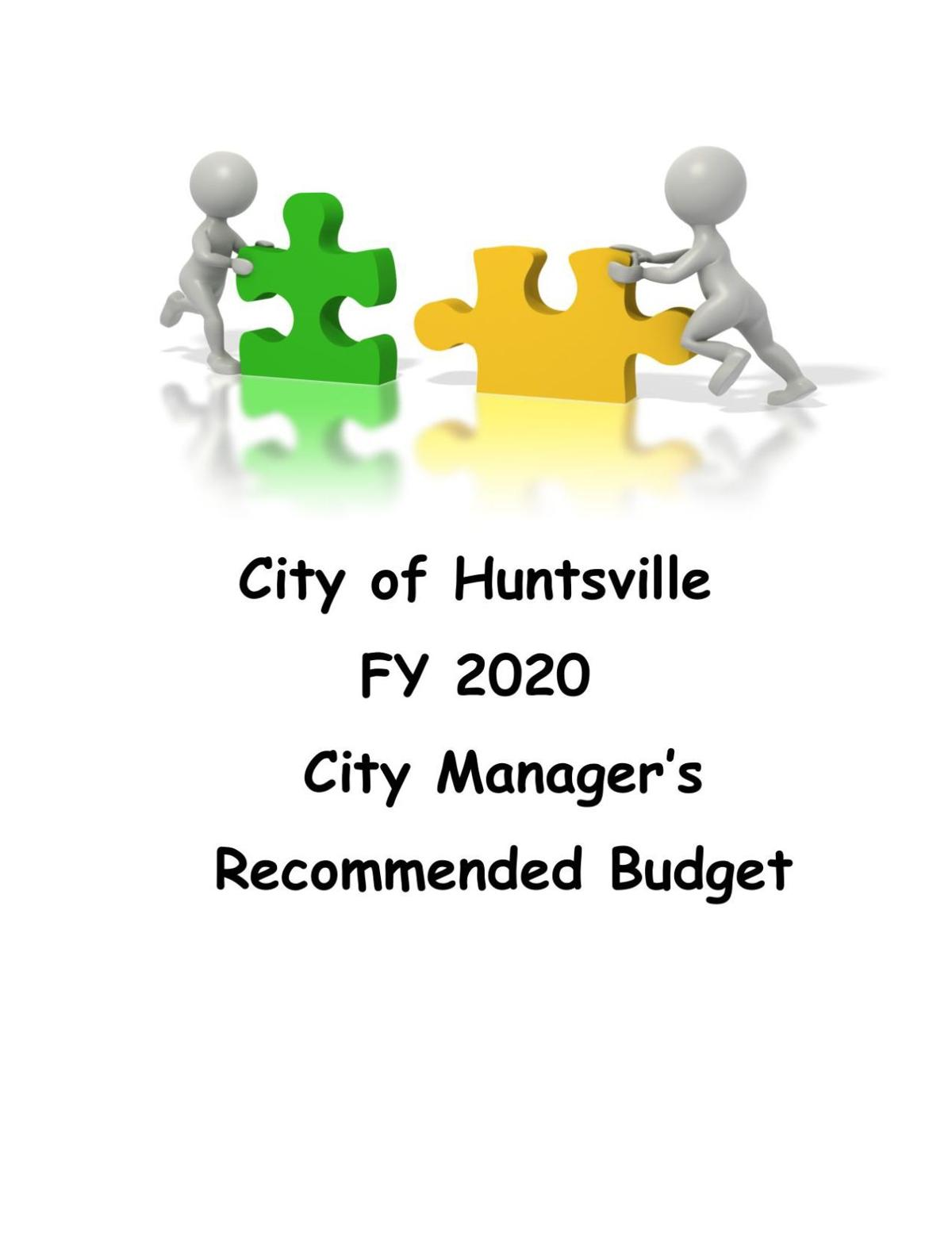 City of Huntsville recommended budget