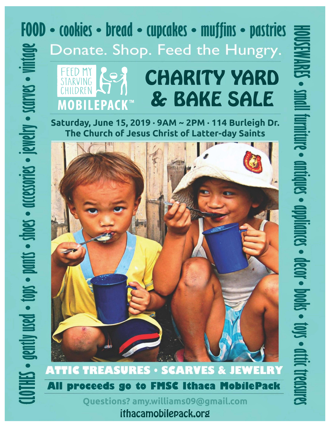 5th ANNUAL CHARITY YARD and BAKE SALE image 1