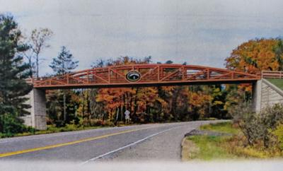 A rendering of what the bridge over Route 13 could look like.