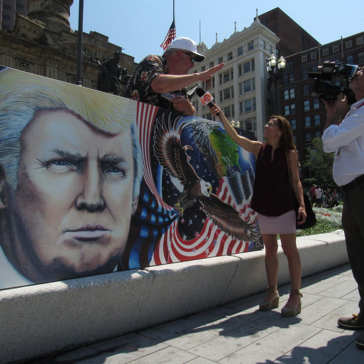 Image result for trump mural""