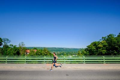 Runner on Stewart Avenue