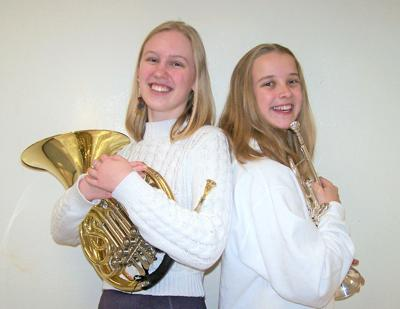 Trumansburg High School students Erin Harrigan (French horn) and Elisabeth Lewis (trumpet) received the prestigious honor of being invited to the NYSSMA All State Conference in Rochester.