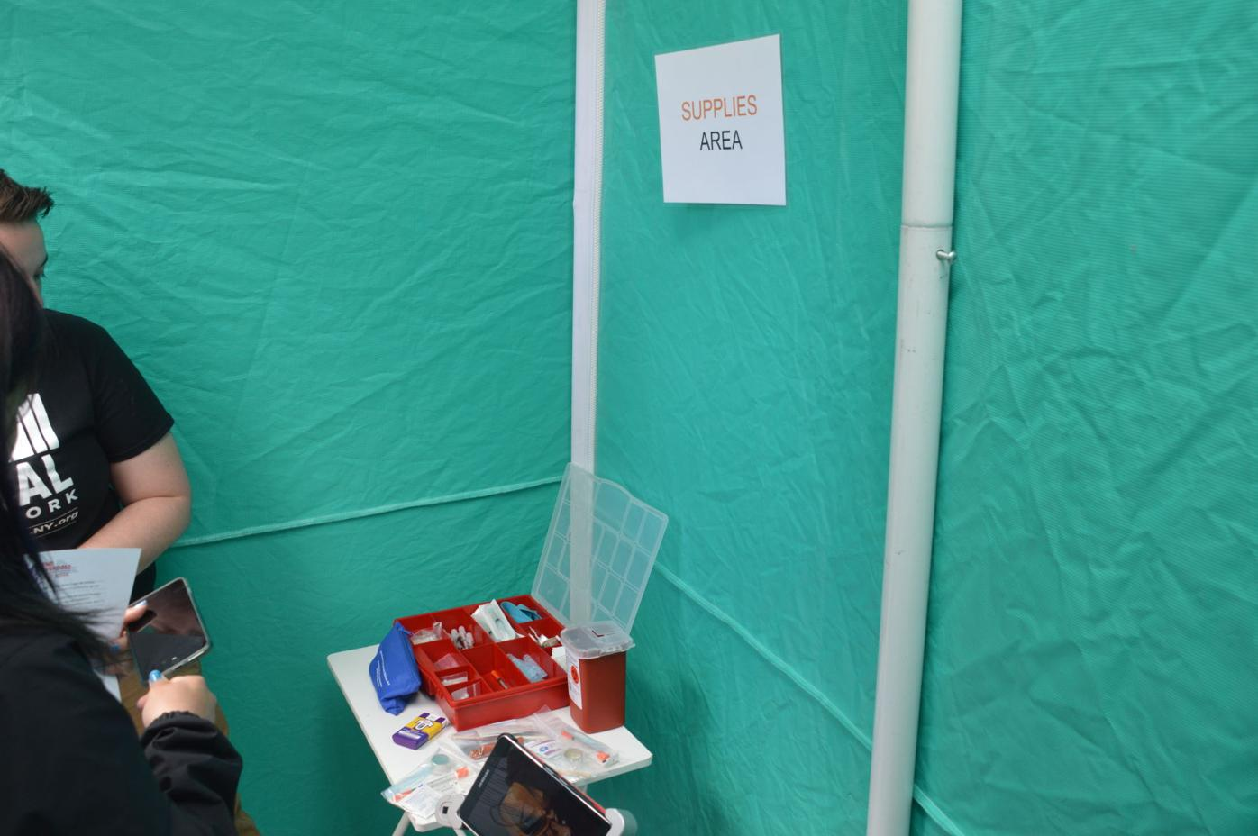 Mock Safe Injection Site- Supplies
