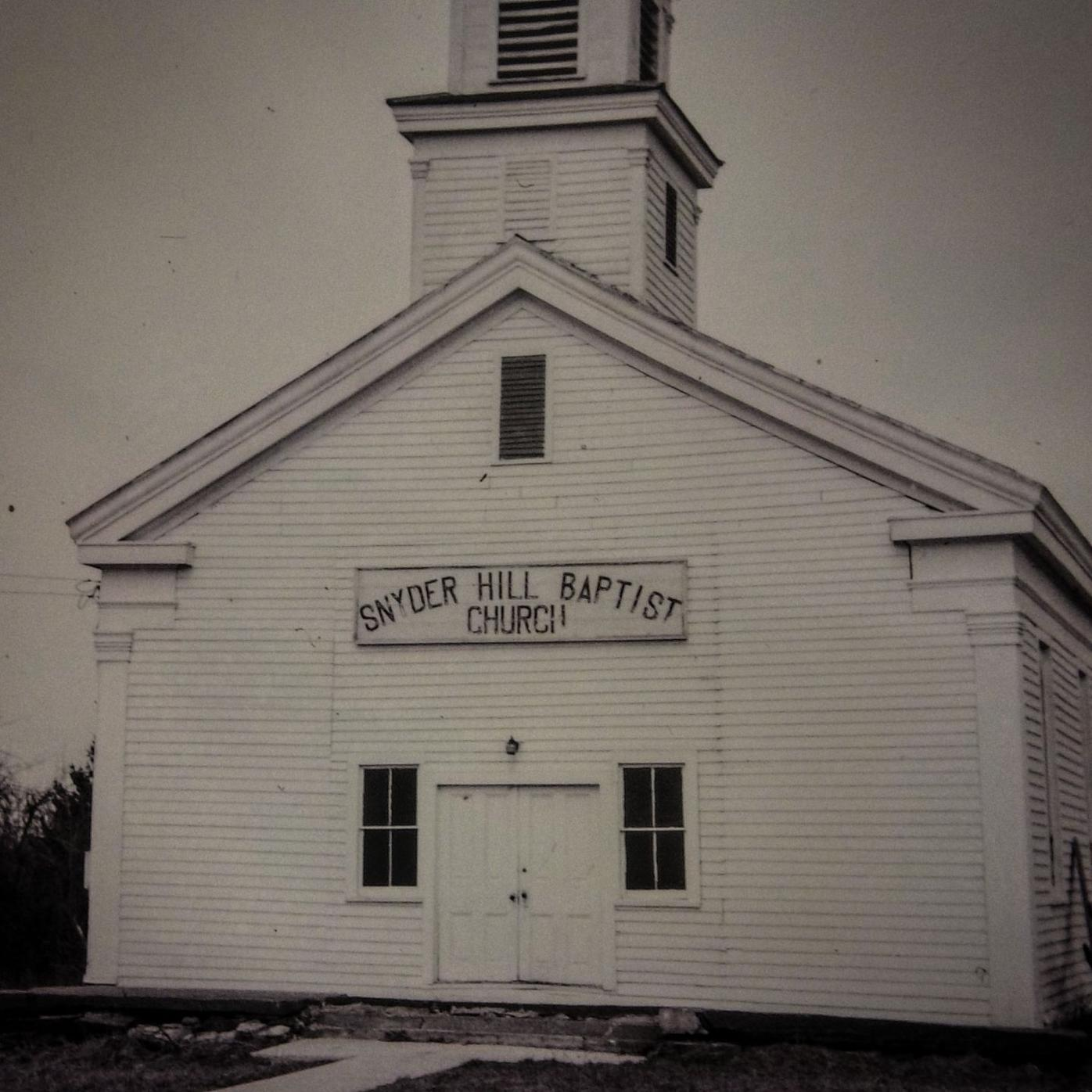 The Snyder Hill Baptist Church, in this undated photo.