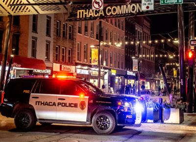 Police at night