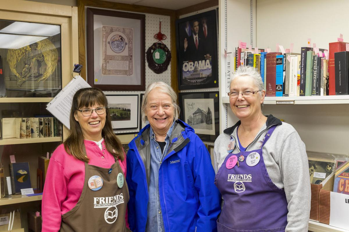 Current coordinator Clare Greene, past coordinator Betta Hedlund, and most recent past coordinator Beryl Barr