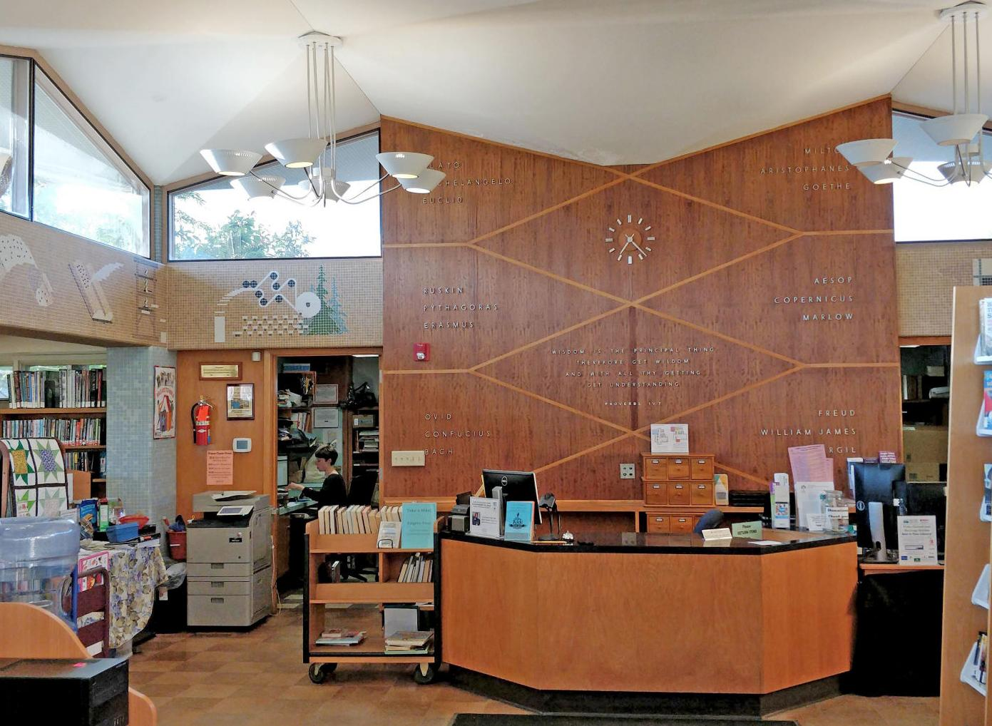 New look (and books) for Ovid library
